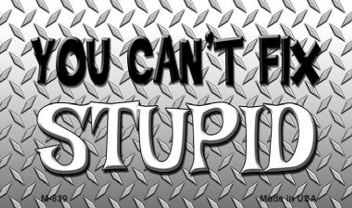 You Cant Fix Stupid Wholesale Metal Novelty Magnet M-839