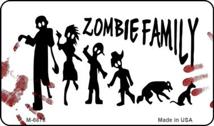 Zombie Family White Novelty Wholesale Metal Magnet M-6878