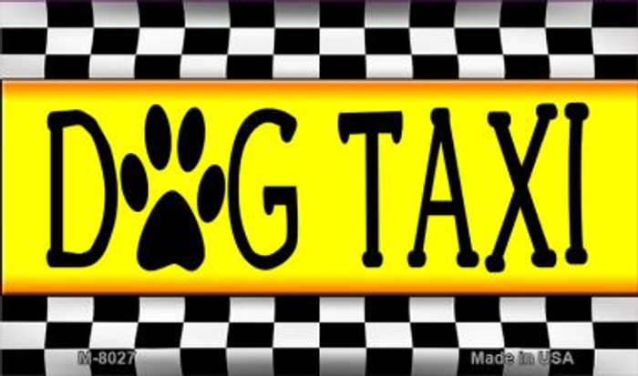 Dog Taxi Novelty Wholesale Metal Magnet M-8027