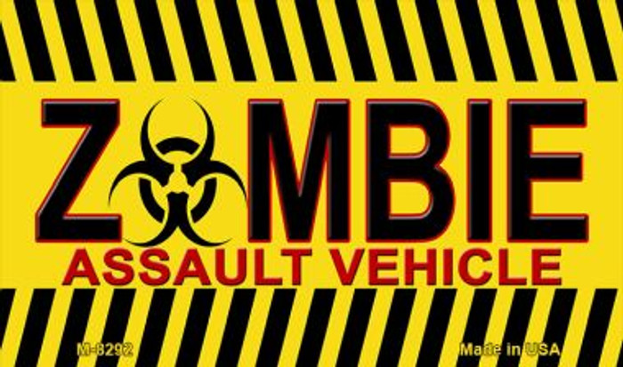 Zombie Assault Vehicle Novelty Wholesale Metal Magnet M-8292