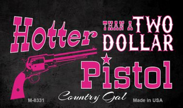 Two Dollar Pistol Novelty Wholesale Metal Magnet M-8331