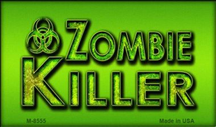 Zombie Killer Wholesale Metal Novelty Magnet M-8555