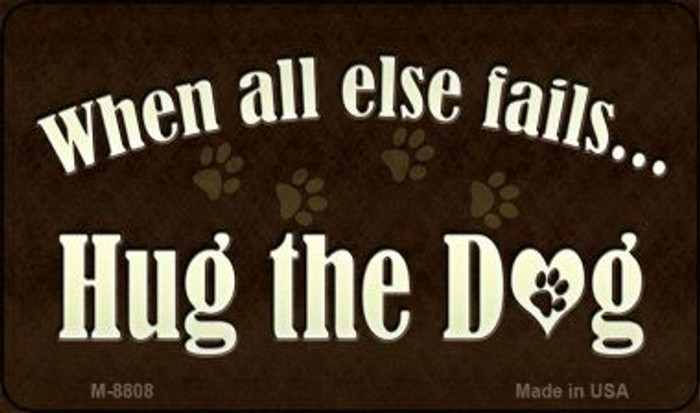 Hug The Dog Wholesale Metal Novelty Magnet M-8808