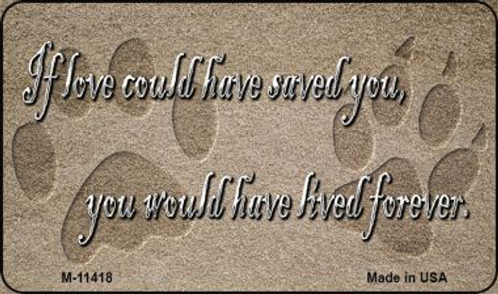 If Love Could Have Saved You Wholesale Novelty Magnet M-11418