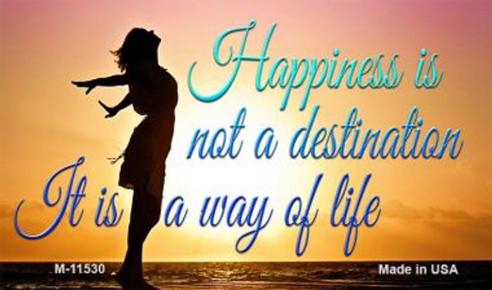 Happiness Way Of Life Sunset Wholesale Novelty Magnet M-11530