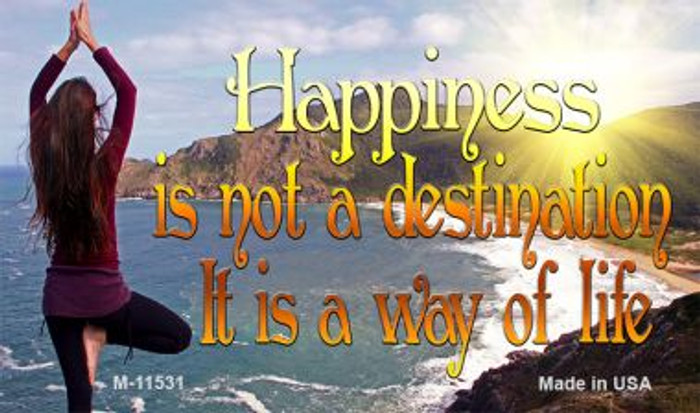 Happiness Way Of Life Yoga Wholesale Novelty Magnet M-11531