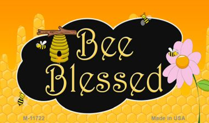 Bee Blessed Honey Hive Wholesale Novelty Magnet M-11722