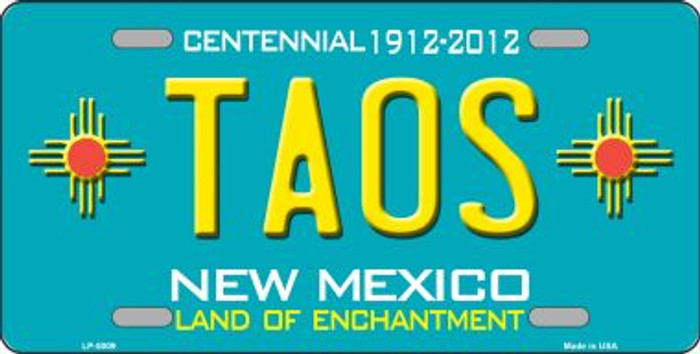 Taos Teal New Mexico Novelty Wholesale License Plate LP-5009