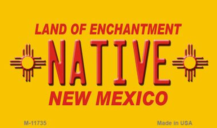 Native New Mexico Yellow Wholesale State Magnet M-11735