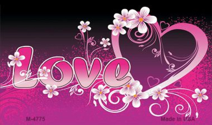 Love Heart And Flowers Wholesale Metal Novelty Magnet M-4775