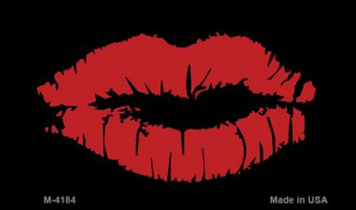 Full Red Lips Wholesale Metal Novelty Magnet M-4184