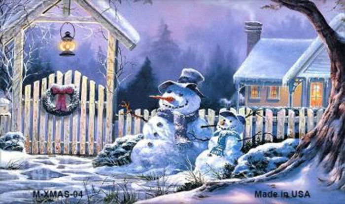 Snowmen Wholesale Metal Novelty Magnet XMAS-04