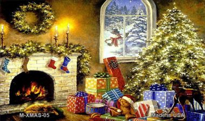 Christmas Scene Wholesale Metal Novelty Magnet XMAS-05