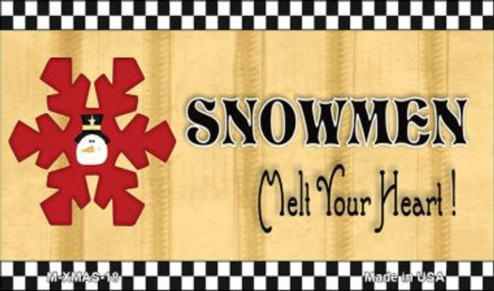 Snowflake Snowmen Melt Your Heart Wholesale Metal Novelty Magnet XMAS-18