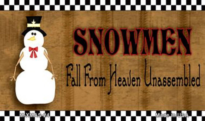 Snowmen Fall From Heaven Wholesale Metal Novelty Magnet XMAS-24