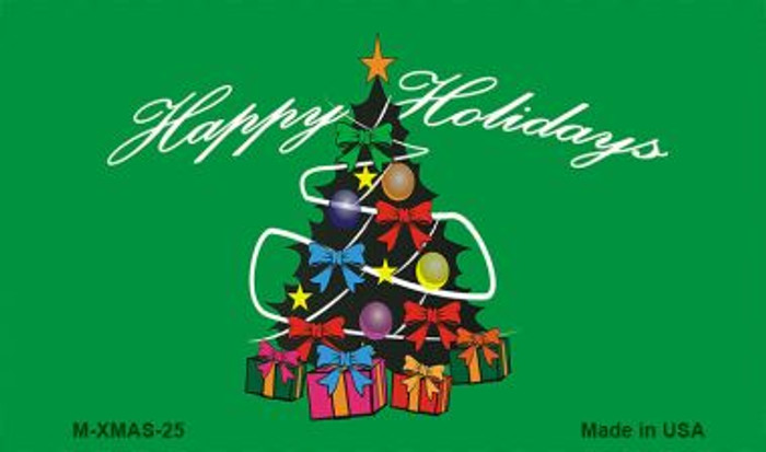 Happy Holidays Christmas Tree Wholesale Metal Novelty Magnet XMAS-25