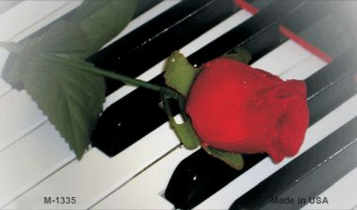Piano Keys Red Rose Novelty Wholesale Metal Magnet M-1335