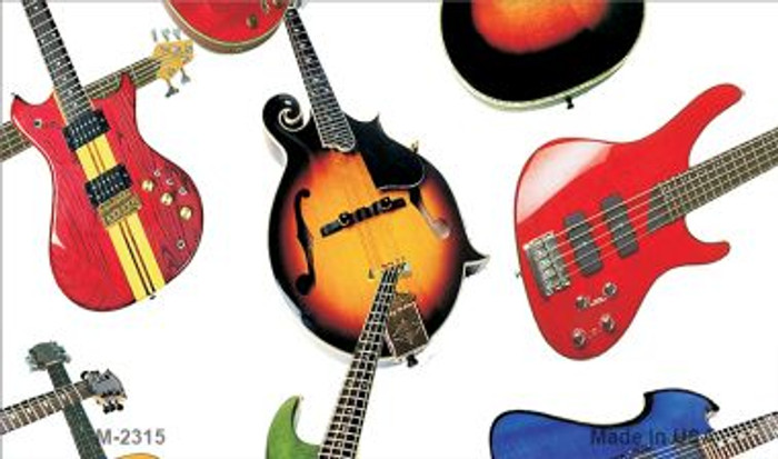 Guitars White Background Wholesale Metal Novelty Magnet M-2315