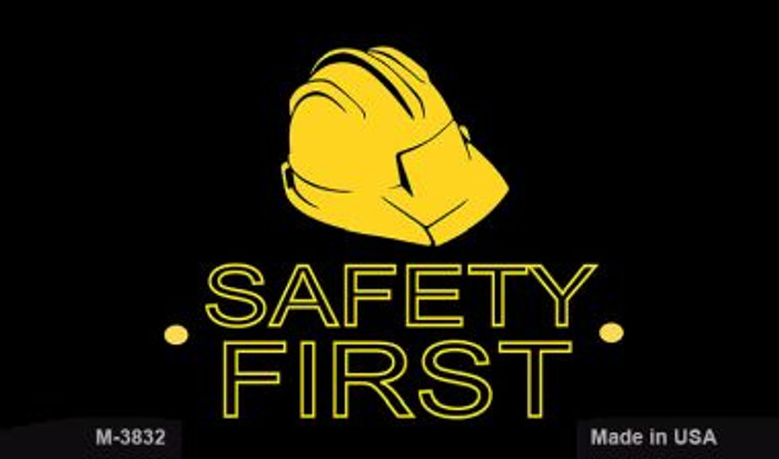 Safety First Wholesale Metal Novelty Magnet M-3832
