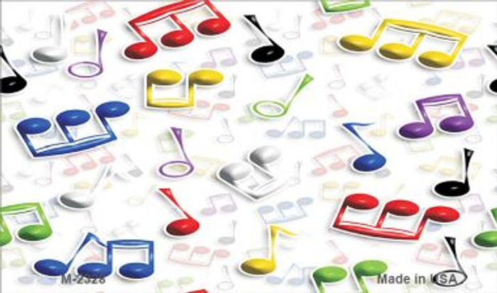 Musical Notes Multi-Color Wholesale Metal Novelty Magnet M-2328