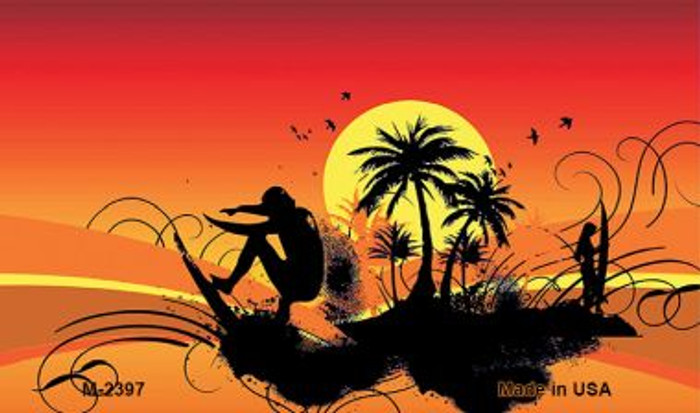 Sunset Surfer Wholesale Metal Novelty Magnet M-2397
