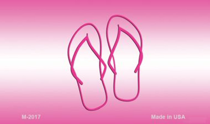 Flip Flops Pink Wholesale Metal Novelty Magnet M-2017