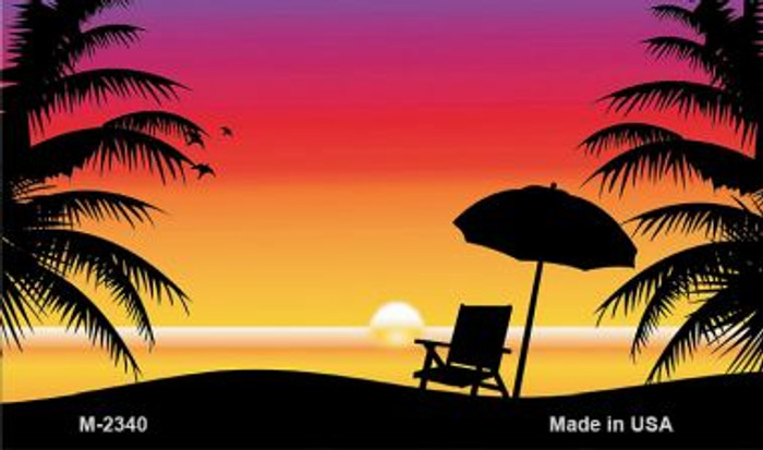 Sunset Beach Wholesale Metal Novelty Magnet M-2340