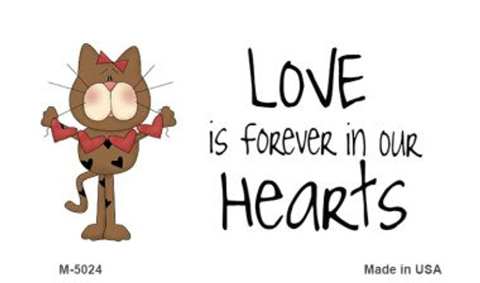 Love In Our Hearts Cat Wholesale Metal Novelty Magnet M-5024