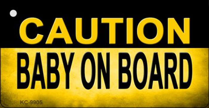 Caution Baby On Board Wholesale Metal Novelty Key Chain KC-9905