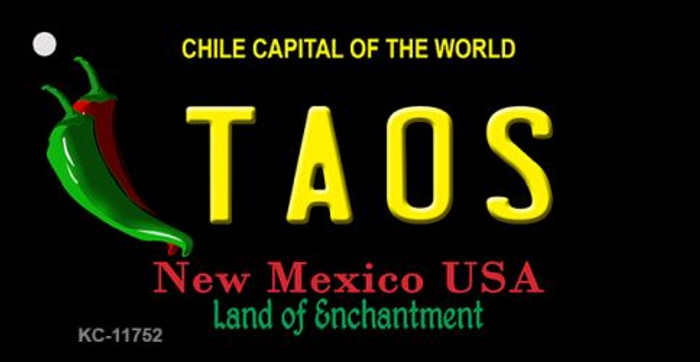 Taos New Mexico Black Wholesale State Key Chain KC-11752