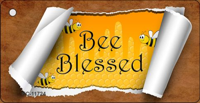 Bee Blessed Scroll Wholesale Novelty Key Chain KC-11724