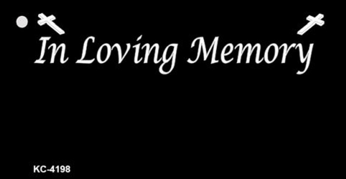 In Loving Memory Black Background Wholesale Metal Novelty Key Chain KC-4198