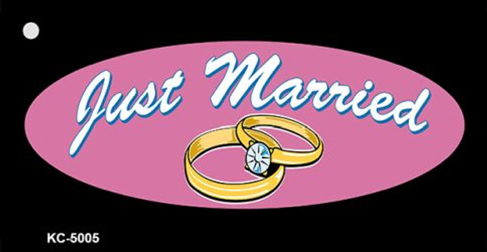 Just Married Wholesale Novelty Metal Novelty Key Chain KC-5005