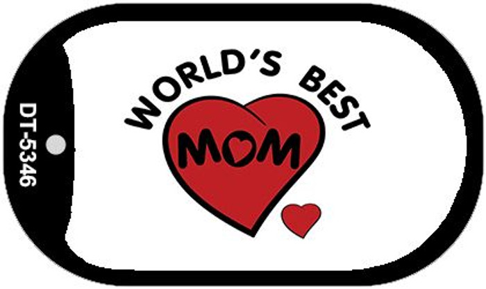 Worlds Best Mom Novelty Wholesale Metal Dog Tag Kit DT-5346