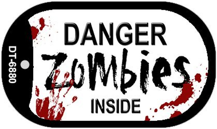 Danger Zombies Inside Novelty Wholesale Metal Dog Tag Kit DT-6880