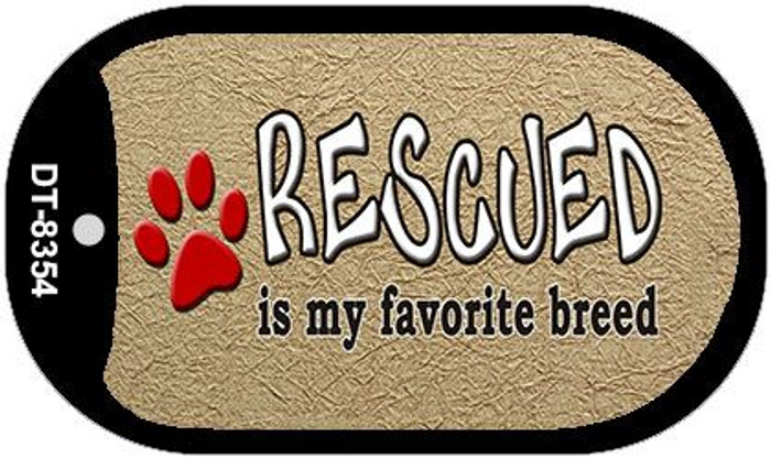 Rescued Is My Favorite Wholesale Metal Novelty Dog Tag Kit DT-8354