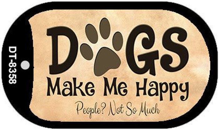 Dogs Make Me Happy Wholesale Metal Novelty Dog Tag Kit DT-8358