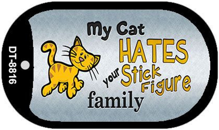 My Cat Hates Wholesale Metal Novelty Dog Tag Kit DT-8816