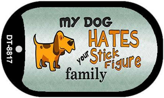 My Dog Hates Wholesale Metal Novelty Dog Tag Kit DT-8817