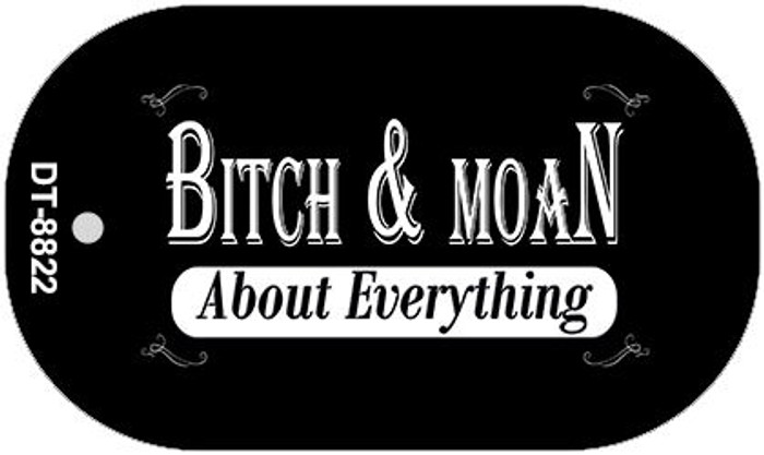 Bitch And Moan Wholesale Metal Novelty Dog Tag Kit DT-8822