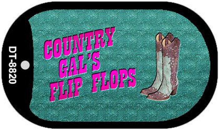 Country Gal's Flip Flops Wholesale Novelty Dog Tag Kit DT-8820