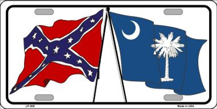Confederate South Carolina State Flag Wholesale Metal Novelty License Plate LP-508