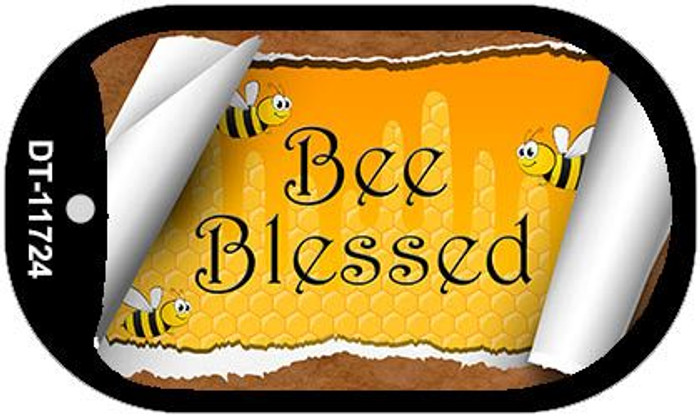 Bee Blessed Scroll Wholesale Novelty Dog Tag Kit DT-11724