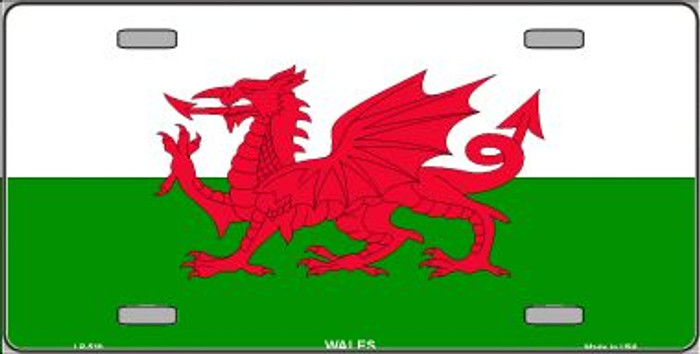 Wales Flag Wholesale Metal Novelty License Plate LP-510