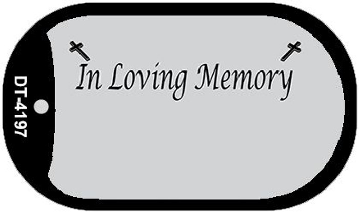 In Loving Memory Gray Background Wholesale Metal Novelty Dog Tag Kit DT-4197