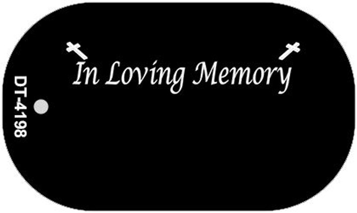 In Loving Memory Black Background Wholesale Metal Novelty Dog Tag Kit DT-4198