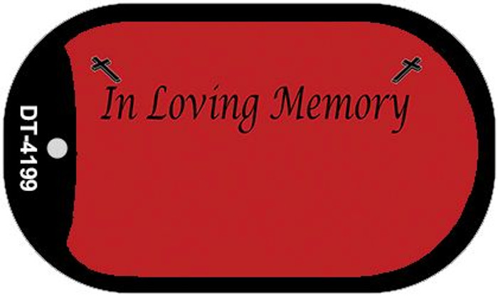 In Loving Memory Red Background Wholesale Metal Novelty Dog Tag Kit DT-4199