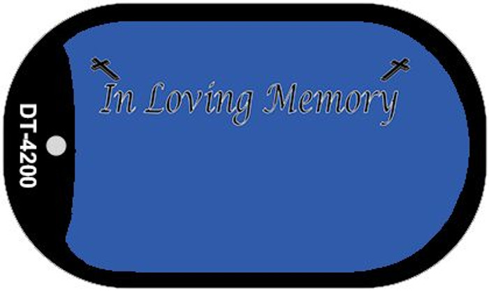 In Loving Memory Blue Background Wholesale Metal Novelty Dog Tag Kit DT-4200