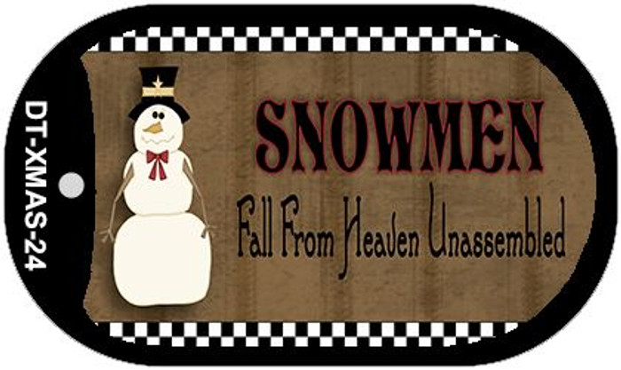 Snowmen Fall From Heaven Wholesale Metal Novelty Dog Tag Kit DT-XMAS-24