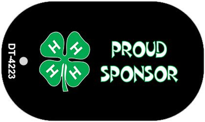 4-H Proud Sponsor Wholesale Metal Novelty Dog Tag Kit DT-4223